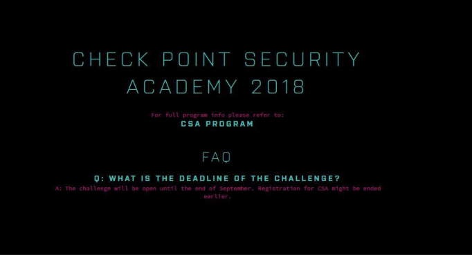 "How to pass a cyber test on ""Checkpoint"""