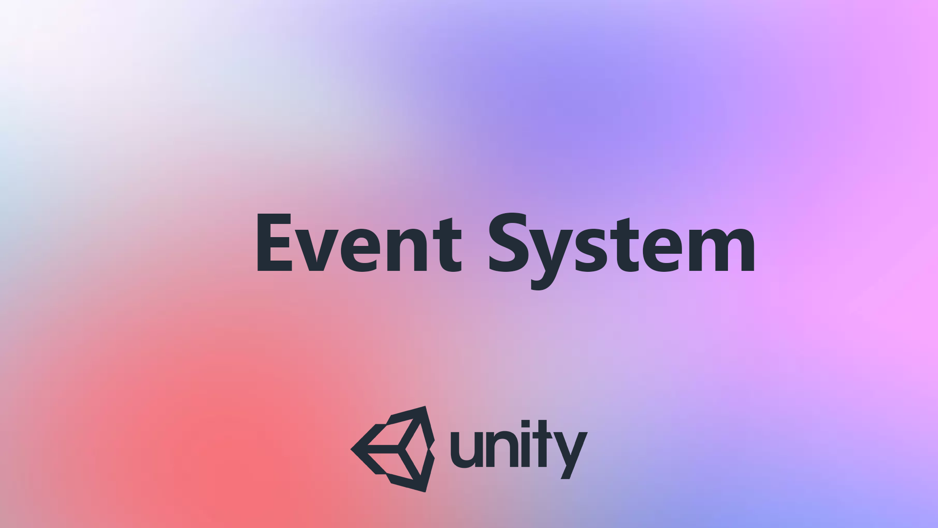 Working with EventSystem in Unity. Basic things in working with UI