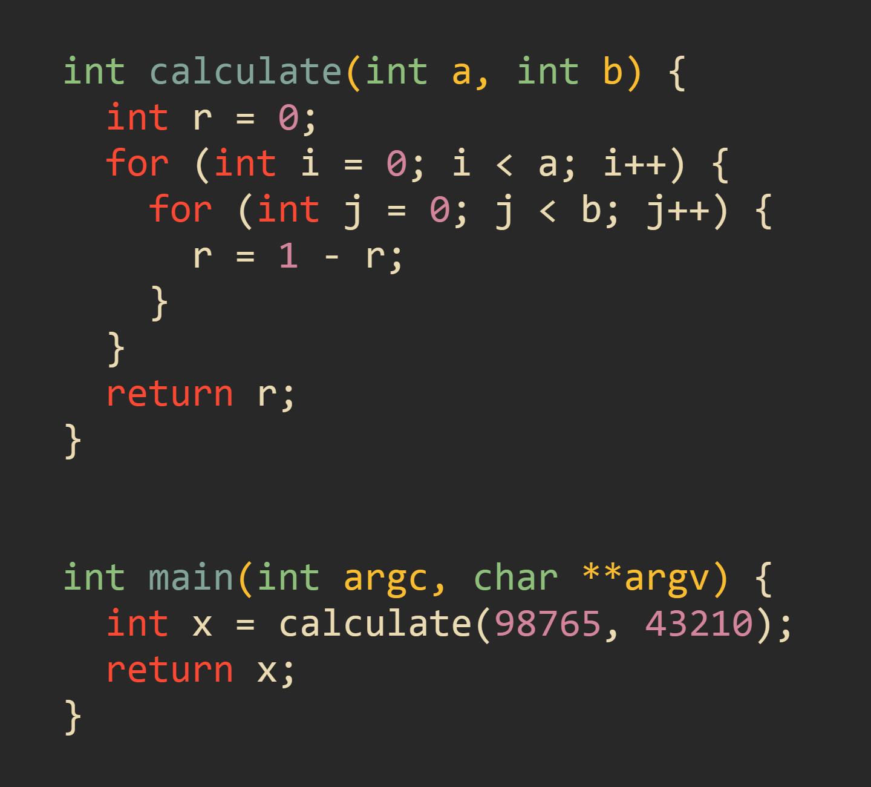 Для данной программы невозможна автоматическая оптимизация
