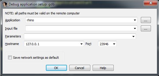 Настройка подключения к GDB-серверу