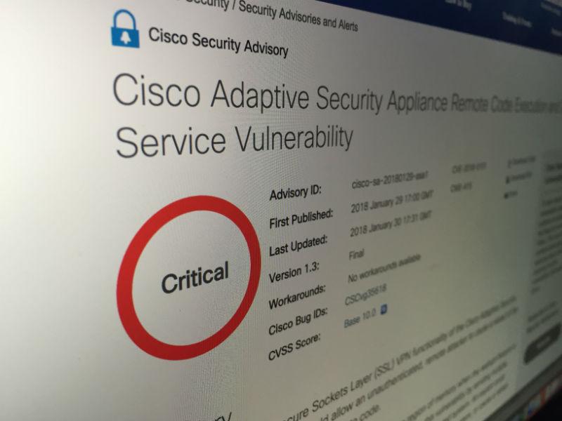 Критическая уязвимость межсетевых экранов Cisco ASA позволяет удаленно выполнять произвольный код