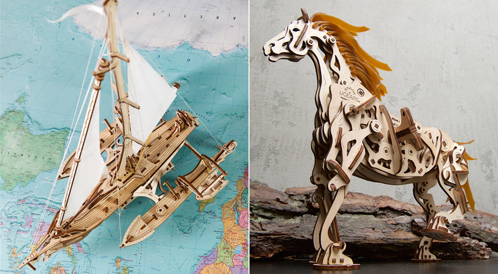 Ugears: horses, sailboats and other royal entertainments