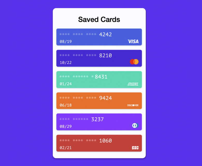 Стандартный браузерный API Payment Request