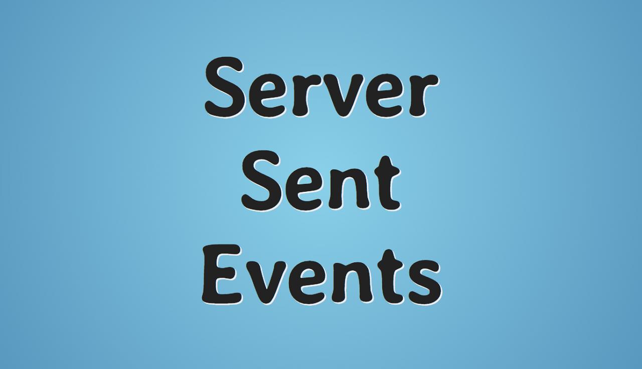 Server-Sent Events пример использования