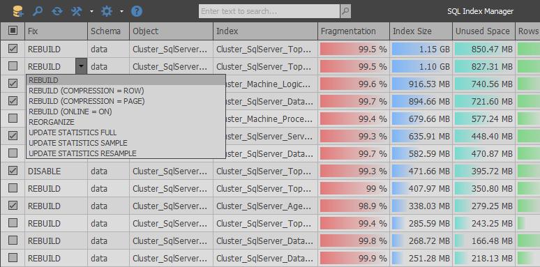 SQL Index Manager — бесплатный тул для дефрагментации и обслуживания индексов