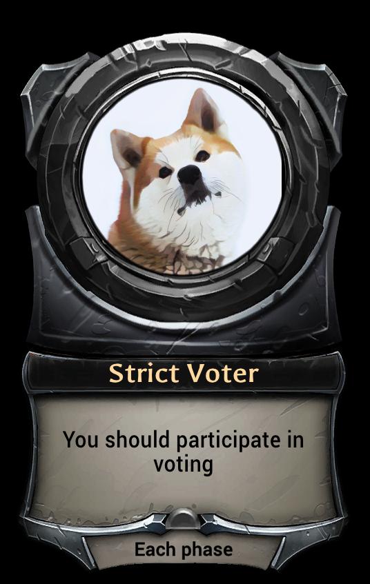 Макет карточки Strict Voter