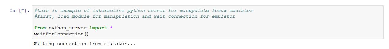 Remote control of Fceux emulator using Python