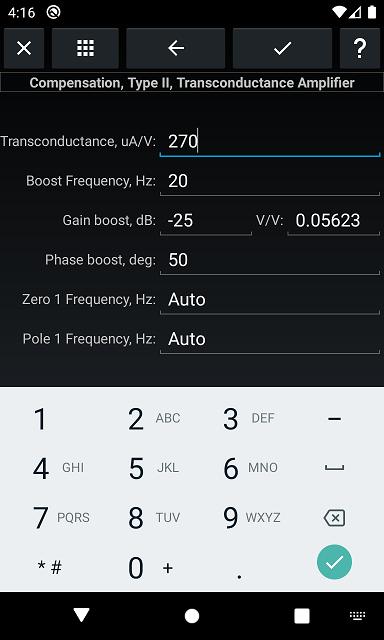 Compensation, Type II, Transconductance Amplifier