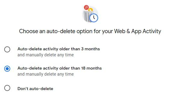 Google включила опцию автоудаления через 18 месяцев истории аккаунта для всех новых пользователей