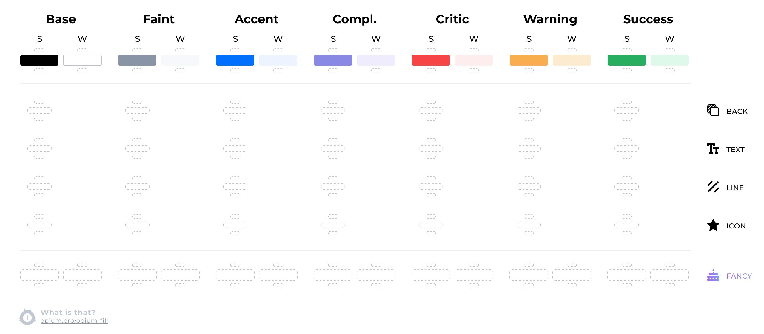 Таблица, но теперь у каждого цвета вверху и внизу дополнительные ячейки