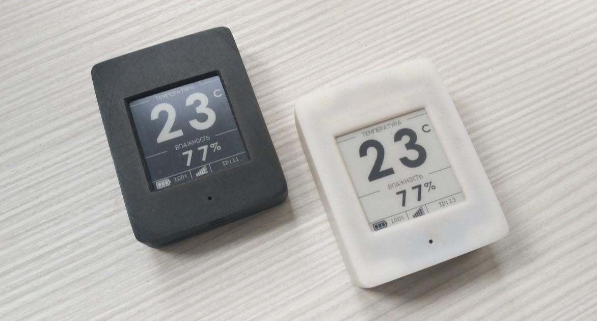 Беспроводной DIY датчик температуры и влажности с e-paper дисплеем