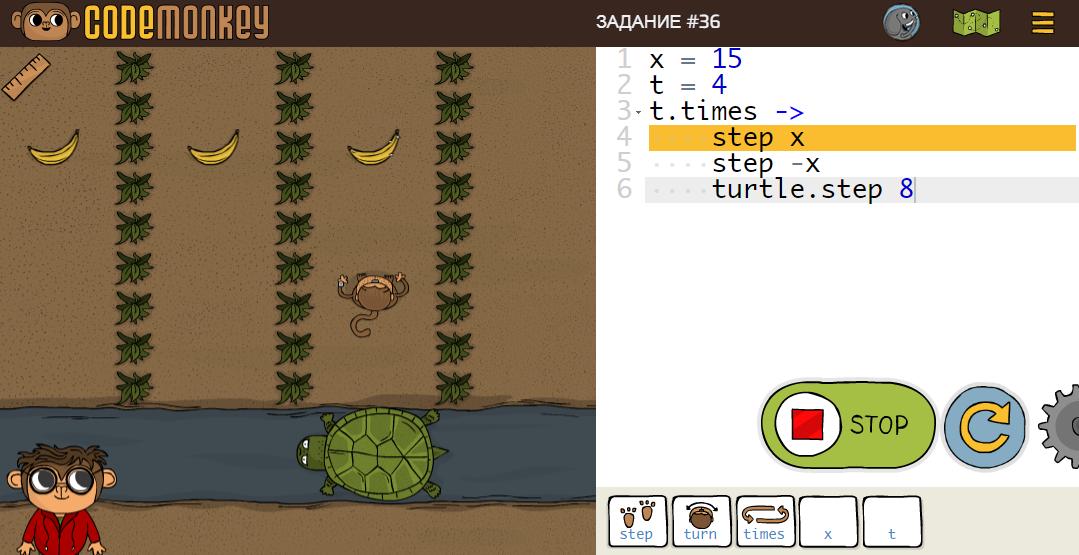 Using CodeMonkey for teaching children the basics of programming
