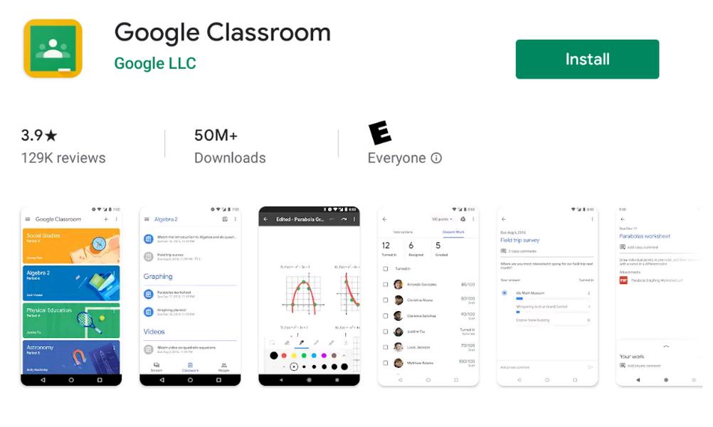 Сервис дистанционного обучения Google Classroom скачали более 50 млн раз