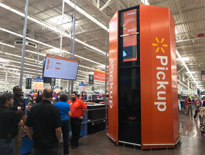 Walmart будет устанавливать в супермаркетах автоматы для выдачи онлайн-покупок