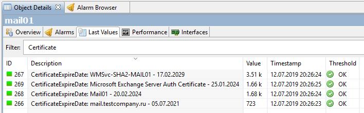 Мониторинг срока действия сертификатов в Windows на NetXMS