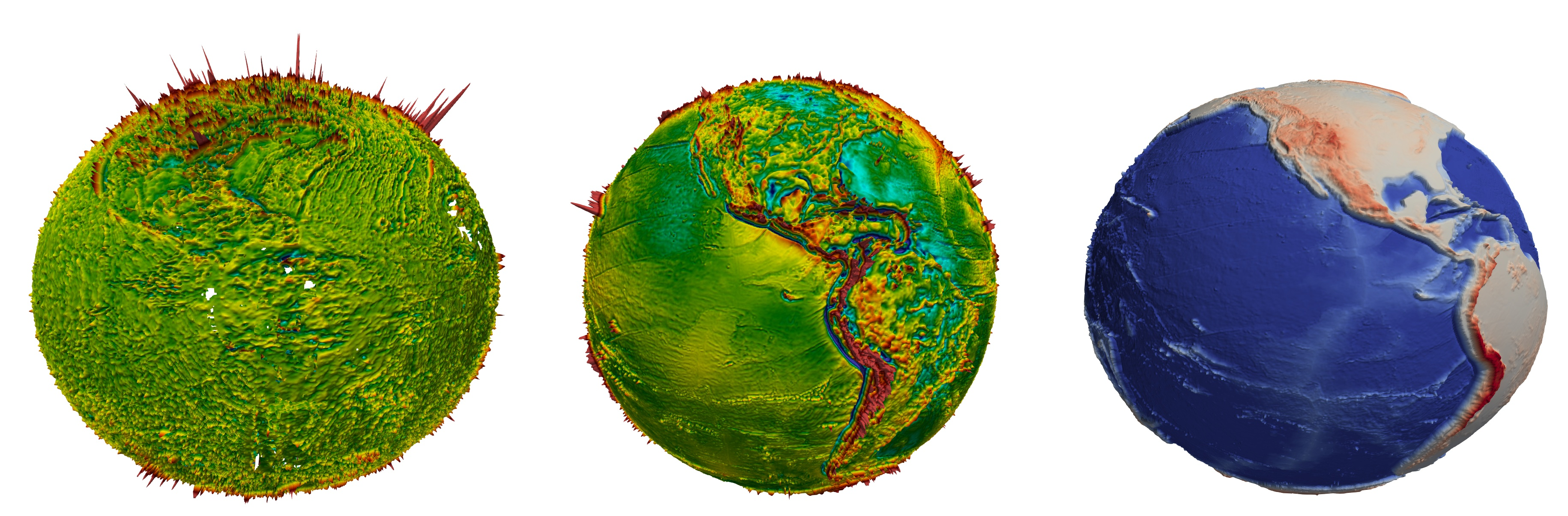 Earth Observation Data on the Globe