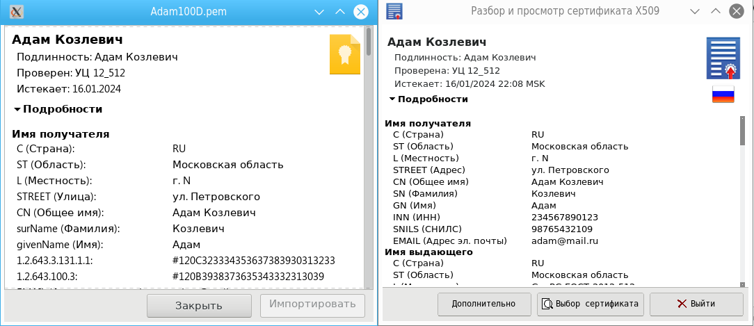 English-language cross-platform utility for viewing Russian