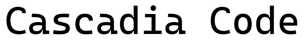 [Перевод] Представляем шрифт Cascadia Code