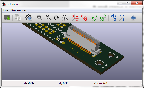 Use Blender and FreeCad to import 3D component models into KiCad