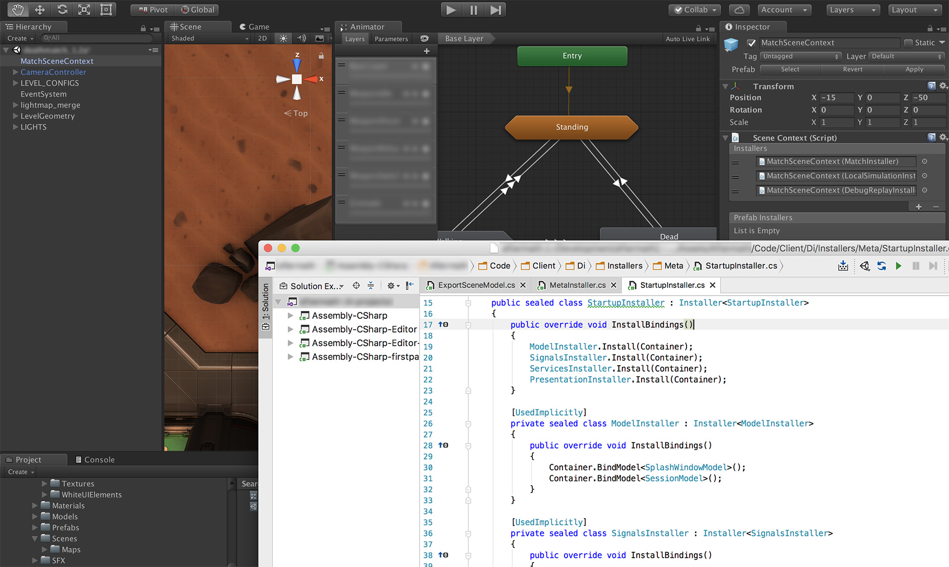 As we swung to mobile fast paced shooter: technology and approaches             A year ago we had one project in our company - a mobile shooter War Robots with relatively slow, but colorful and intense battles. The game continues to evolve, it has tens of millions of installations and players around the world, constantly updating. At some point, we wanted to make a dynamic shooter on Unity with speeds comparable to Overwatch, CS: GO or Quake. But to realize the conceived for mobile platforms (primarily iOS and Android) based on War Robots with the current architecture and approaches was almost unrealistic.         We understood how to do this in theory - there are many articles, presentations on YouTube, detailing how to write a shooter,  How to work with the network  , what problems arise and how to solve them. There is no Rocket Science, all these approaches were invented even 30 years ago and during this time they have not changed much. BUT: we did not have practice.         Looking ahead, I will say - we managed to realize what was planned. We created a fast dynamic shooter for mobile platforms, which is now in beta testing and is being actively developed. And I would very much like to share all this. This is the first, overview article with a listing and a brief description of practically everything that we use (please do not confuse it with             A year ago we had one project in our company - a mobile shooter War Robots with relatively slow, but colorful and intense battles. The game continues to evolve, it has tens of millions of installations and players around the world, constantly updating. At some point, we wanted to make a dynamic shooter on Unity with speeds comparable to Overwatch, CS: GO or Quake. But to realize the conceived for mobile platforms (primarily iOS and Android) based on War Robots with the current architecture and approaches was almost unrealistic.         We understood how to do this in theory - there are many articles, presentatio
