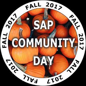 SAP Community Day Fall 2017