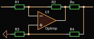 'Circuit Calcualator', Inverting Active Termination Driver