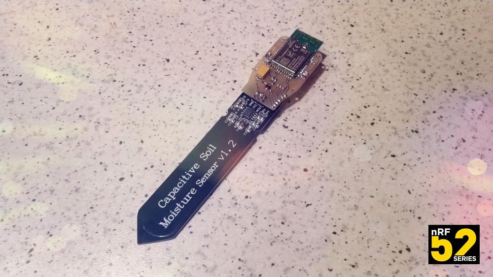 Беспроводной модуль для ёмкостного датчика влажности почвы на nRF52832