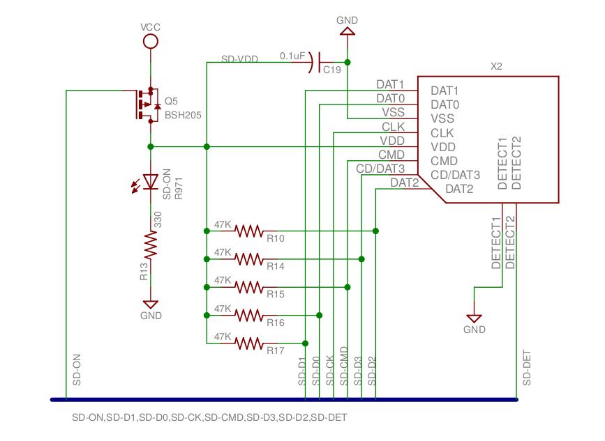 Контур карты micro-SD