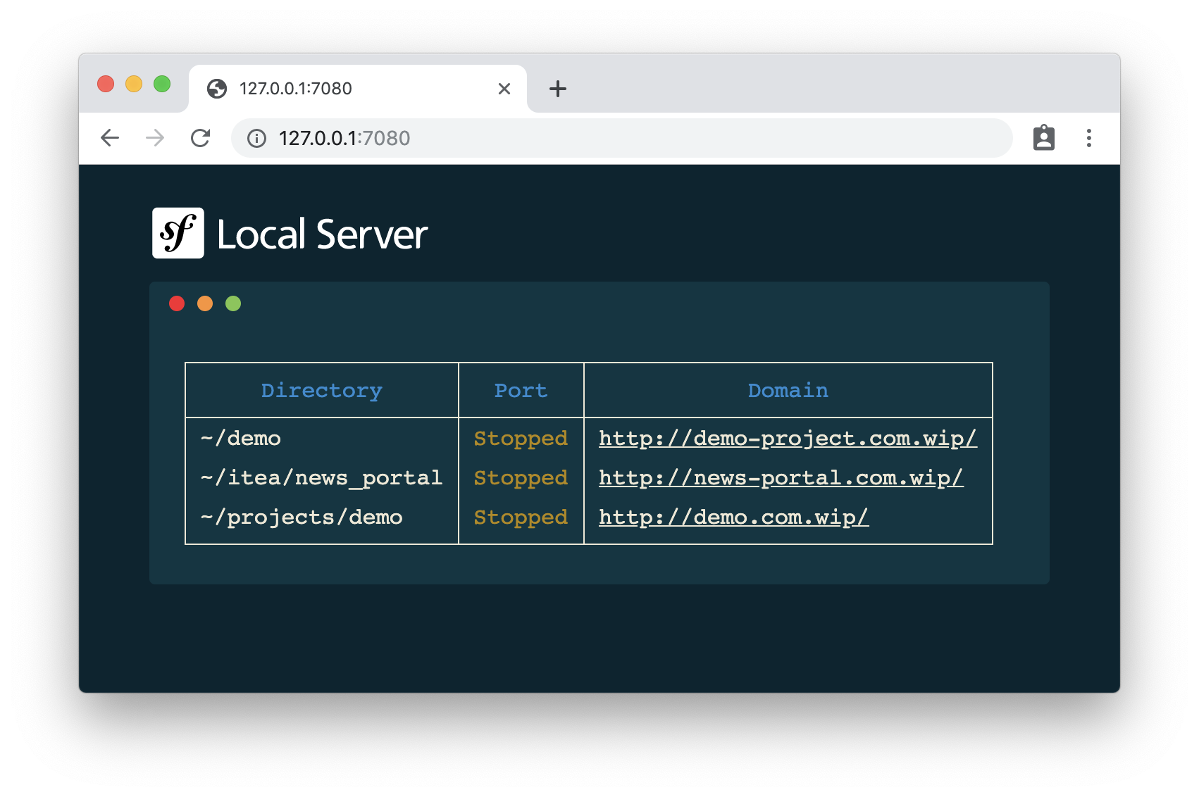 symfony proxy server