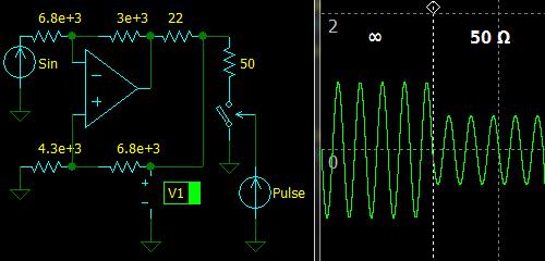 Inverting Active Termination Driver, simulation