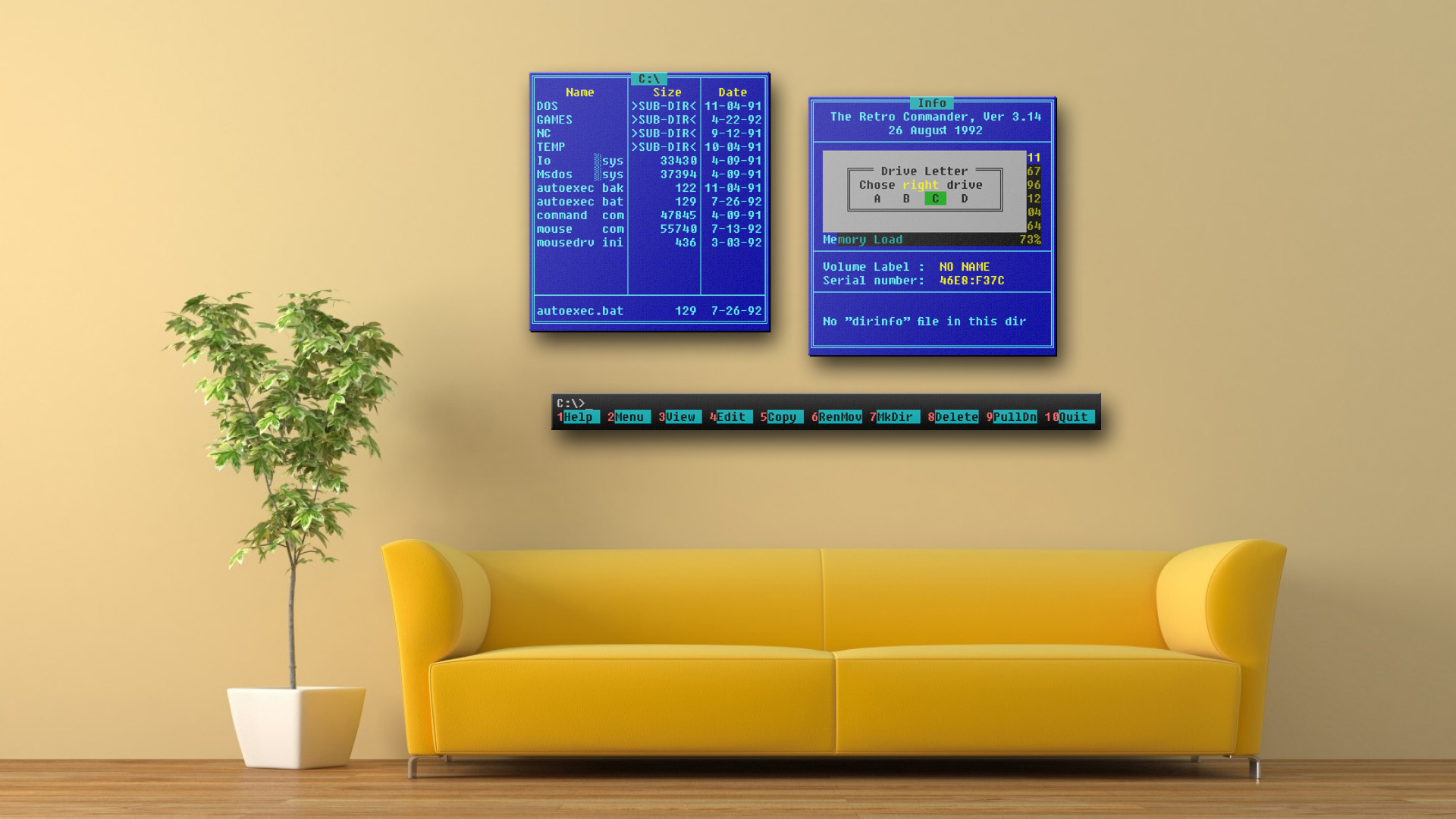 [Пятничное]ASCII graffiti on retro monitors and other surfaces