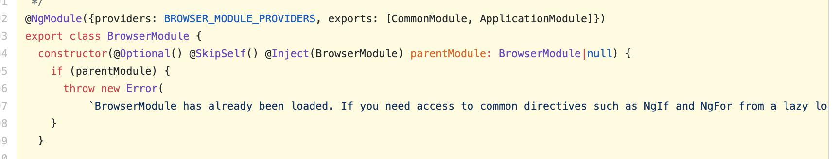 Использование подхода в BrowserModule