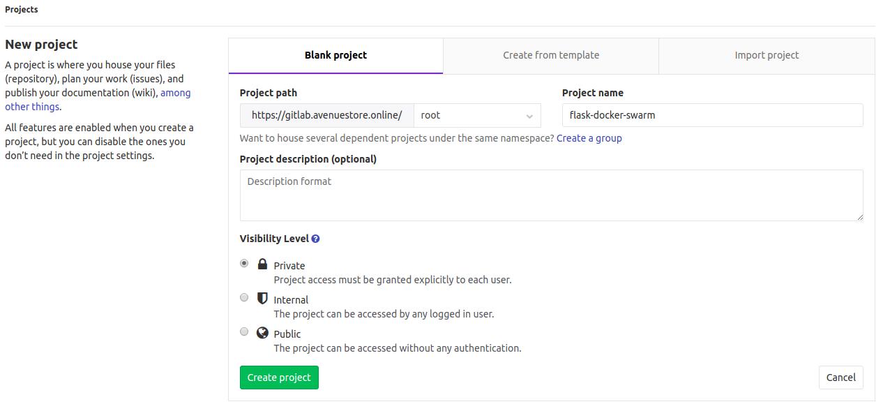 Новый проект в GitLab