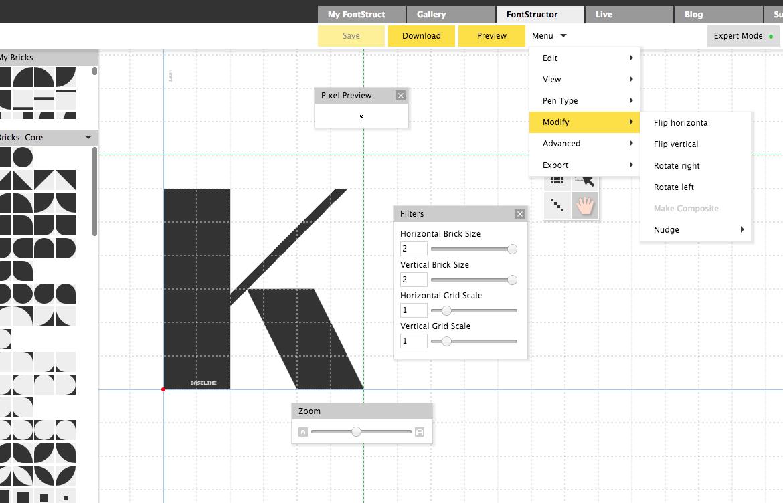 FontStructor - бесплатный редактор шрифтов на FontStruct.com