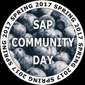 SAP Community Day Spring 2017