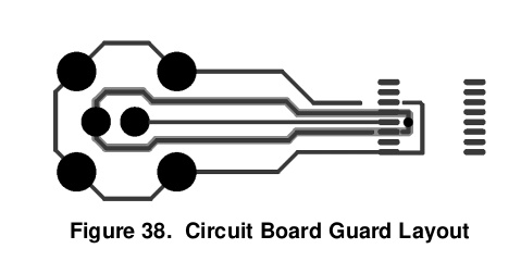 Рекомендуемый в даташите на LMP91200 дизайн платы