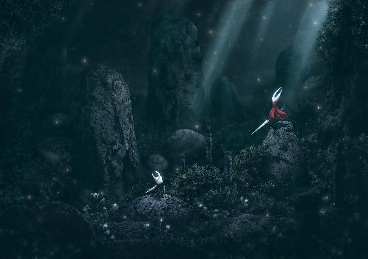 Анализ геймдизайна Hollow Knight. Часть 2. Зелёная тропа  Грибные пустоши