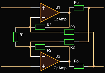 'Circuit Calculator', Differential Active Termination Driver