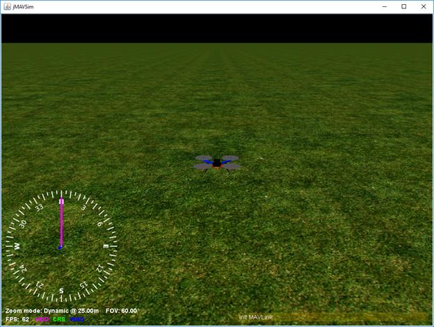 Окно симулятора jMAVSim под Windows