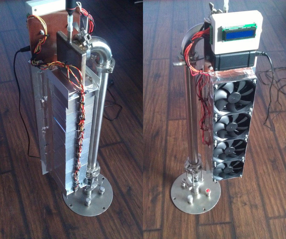 Воздушное охлаждение самогонного аппарата.