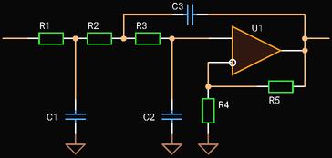 Third Order Sallen-Key Low-pass Filter