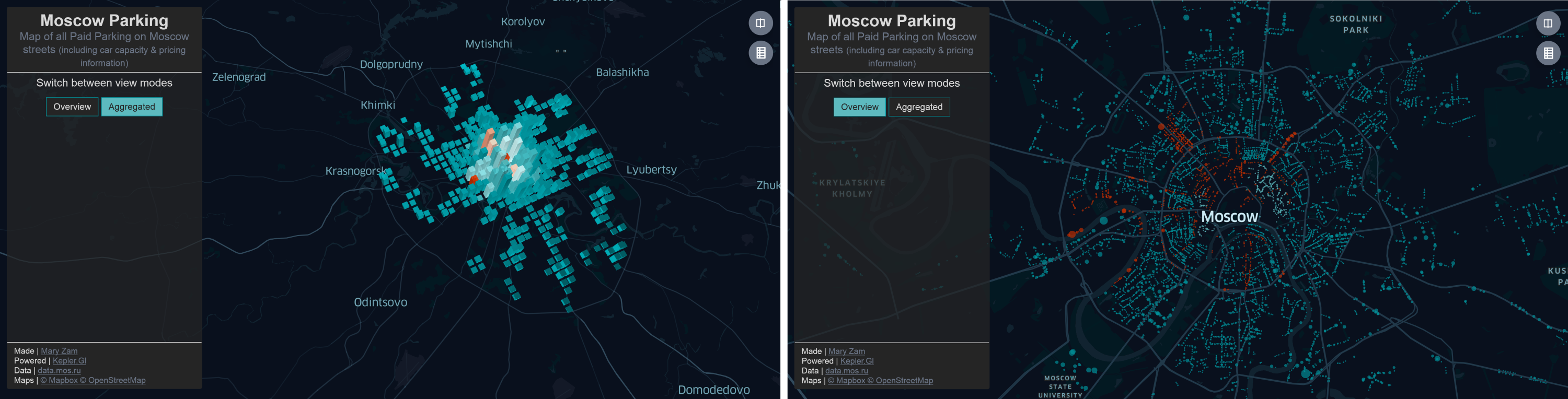 Demo app about paid parking in Moscow