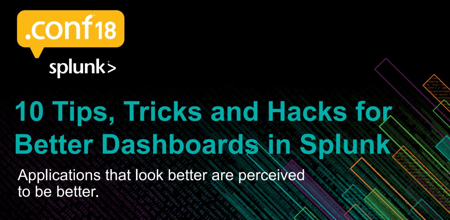 10 tricks for advanced dashboarding in Splunk. Part 2