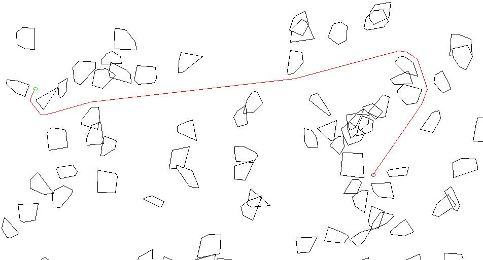 Быстрый поиск касательных и пересечений у выпуклых многоугольников