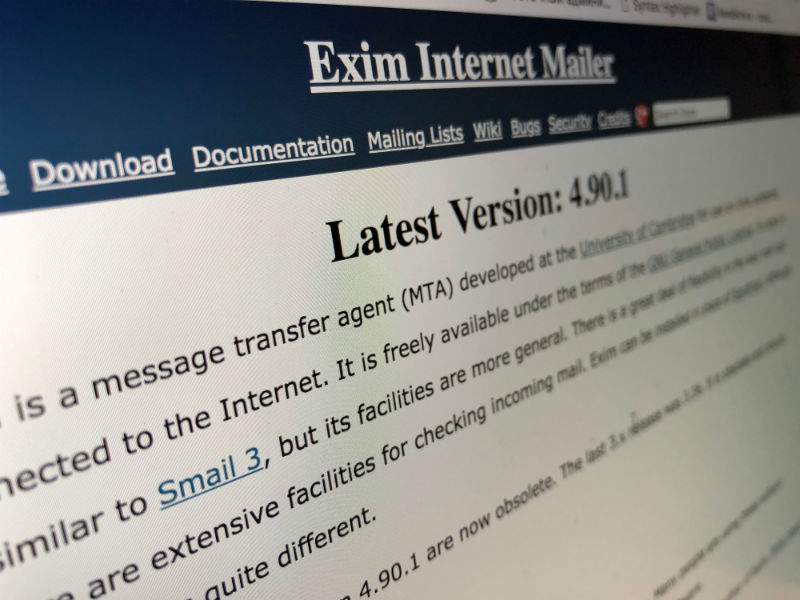 400 thousand servers can be exposed to RCE-attacks because of vulnerability in the mail agent Exim