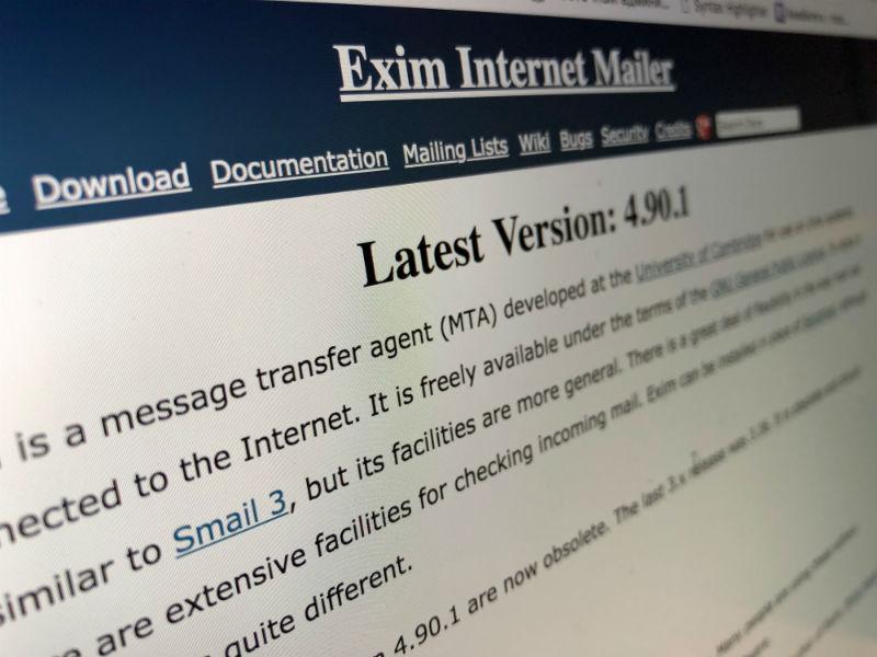 400 тысяч серверов могут быть подвержены RCE-атакам из-за уязвимости в почтовом агенте Exim