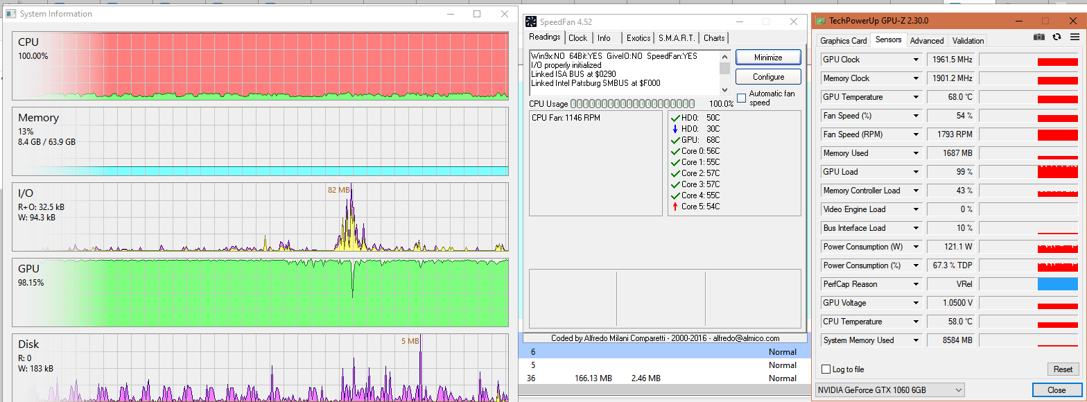 BOINC sys load and temp