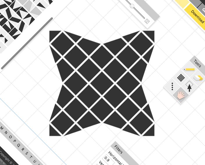 Логотип Haxe в редакторе шрифтов FontStruct