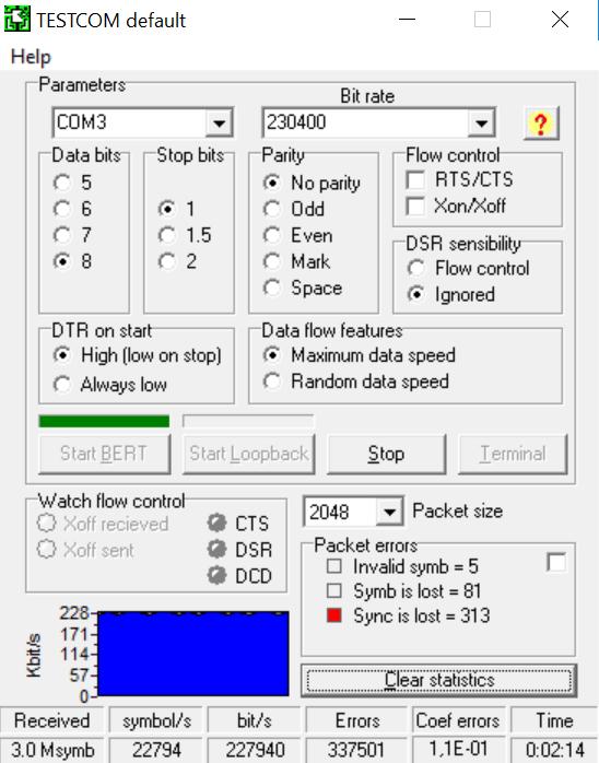 Тестирование без предварительной фильтрации сигнала RX