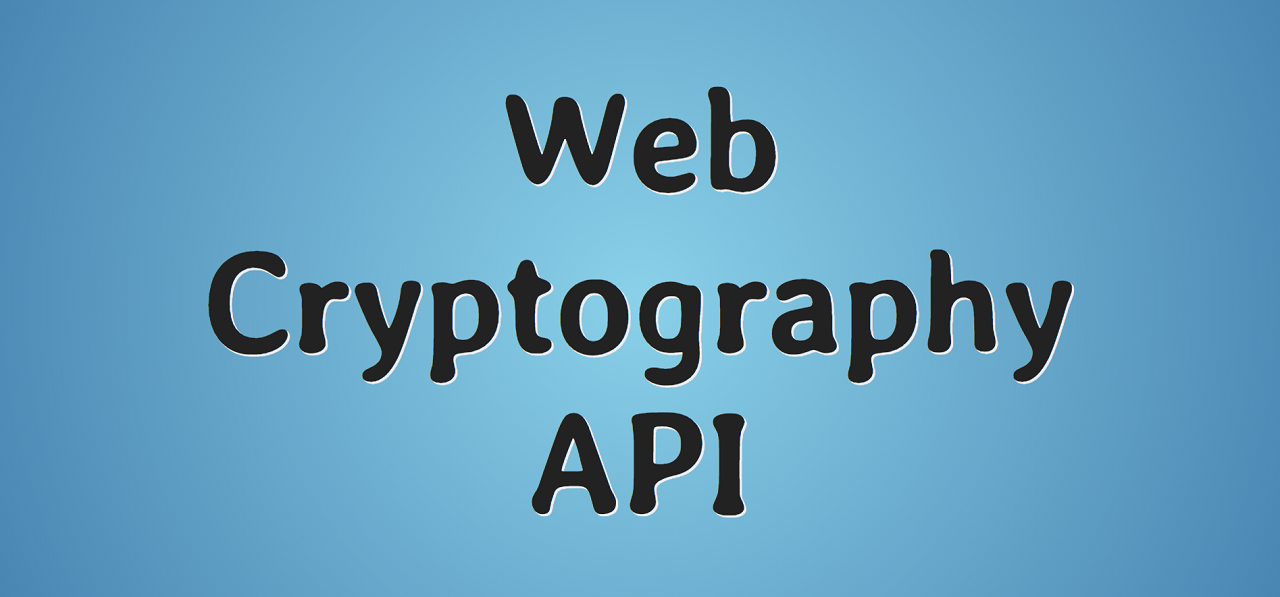 Web Cryptography API пример использования